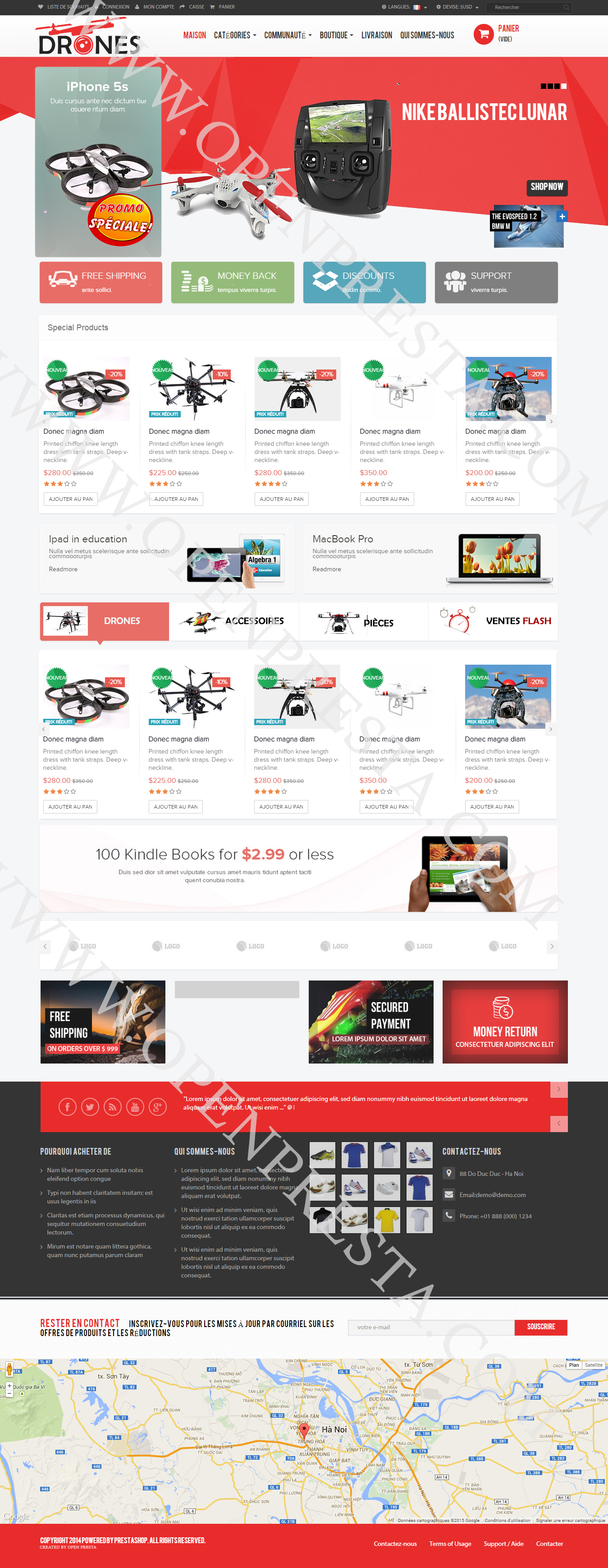 Creation Site Drone – Prestashop